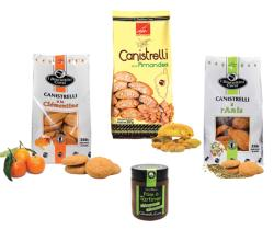 Pack 3 Canistrelli Amandes-Clementine-Anis + 1 Pâte à tartiner noisette-choco-canistrelli