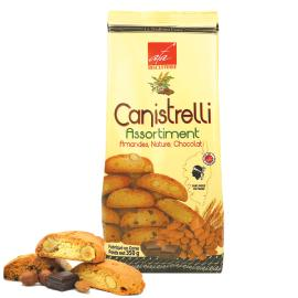 ASSORTIMENT LUXE DE CANISTRELLI - AMANDES -NATURE- CHOCOLAT